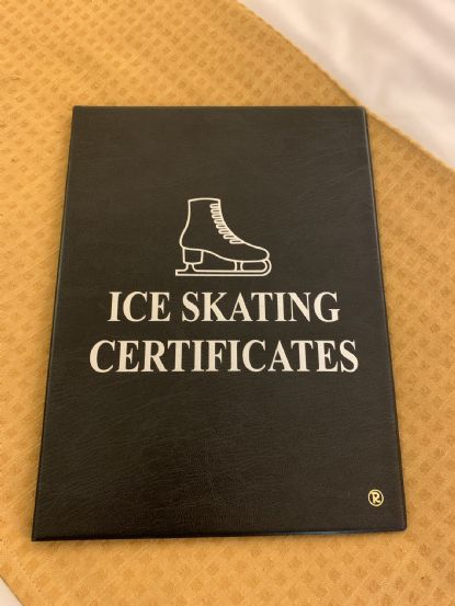 Ice skating certificate book